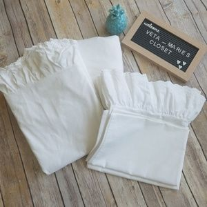 RALPH LAUREN RUFFLED TWIN SHEET SET